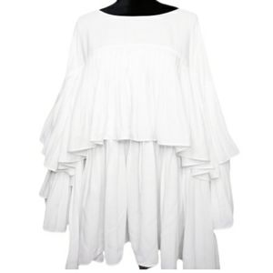 Pleated layered blouse